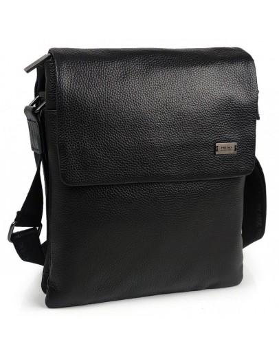 Фотография Черная кожаная плечевая сумка Ricardo Pruno RP-F-A25F-8873A