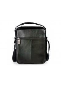 Черная кожаная сумка на плечо - барсетка Ricardo Pruno RP-F-A25F-90118A
