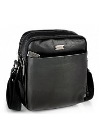 Кожаная черная мужская сумка на плечо Ricardo Pruno RP-F-A25F-9749A