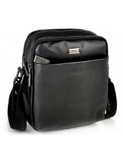 Фотография Кожаная черная мужская сумка на плечо Ricardo Pruno RP-F-A25F-9749A
