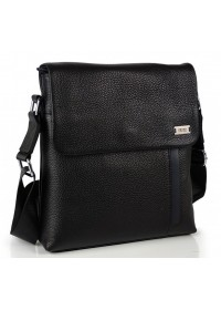 Мужская черна кожаная плечевая сумка Ricardo Pruno RP-F-A25F-9913A