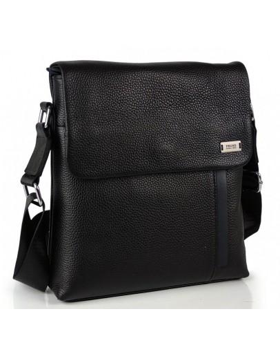 Фотография Мужская черна кожаная плечевая сумка Ricardo Pruno RP-F-A25F-9913A