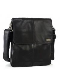 Черная мужская кожаная сумка на плечо Ricardo Pruno RP-S-N2-8005A