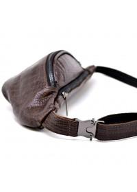 Мужская напоясная коричневая кожаная сумка Tarwa RP1-3036-3md