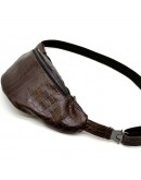Фотография Мужская напоясная коричневая кожаная сумка Tarwa RP1-3036-3md