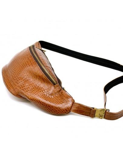 Фотография Мужская напоясная рыжая кожаная сумка Tarwa RP3-3036-3md