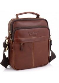 Кожаная коричневая мужская сумка - барсетка Ruff Ryder RR-1969-2B