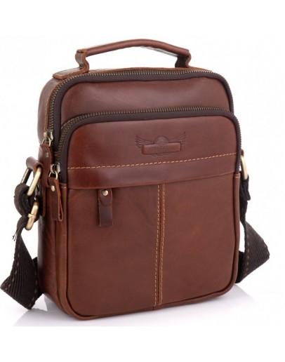 Фотография Кожаная коричневая мужская сумка - барсетка Ruff Ryder RR-1969-2B