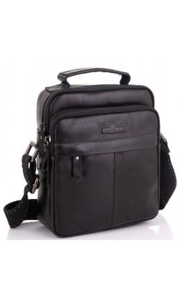 Кожаная черная мужская сумка - барсетка Ruff Ryder RR-1969A