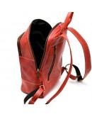 Фотография Красный кожаный женский рюкзак из винтажной кожи Tarwa RR-2008-3md