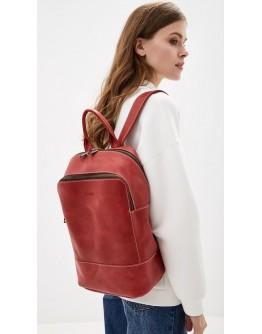 Красный кожаный женский рюкзак из винтажной кожи Tarwa RR-2008-3md