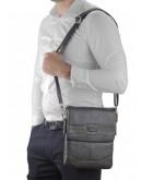 Фотография Коричневая кожаная сумка на плечо Ruff Ryder RR-3863B