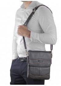 Коричневая кожаная сумка на плечо Ruff Ryder RR-3863B