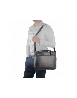 Черная кожаная сумка для небольшого ноутбука RR-4011A