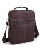 Фотография Мужская коричневая сумка через плечо Allan Marco RR-4083B