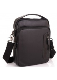 Черная кожаная сумка - барсетка Allan Marco RR-4098A