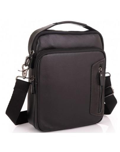 Фотография Черная кожаная сумка - барсетка Allan Marco RR-4098A