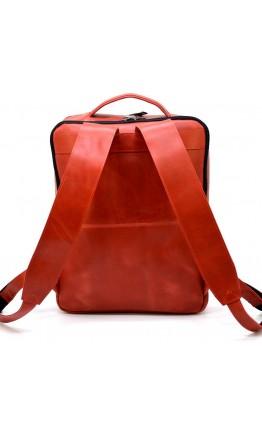 Красный кожаный рюкзак из винтажной кожи Tarwa RR-7280-3md