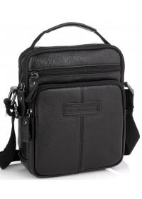 Черная небольшая мужская сумка через плечо Allan Marco RR-9053A