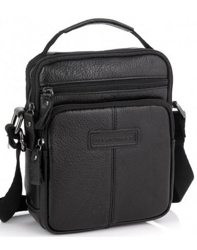 Фотография Черная небольшая мужская сумка через плечо Allan Marco RR-9053A