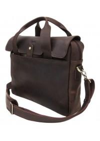 Кожаная коричневая мужская городская сумка Tarwa RС-1812-4lx