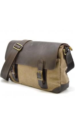 Мужская сумка на плечо из канваса и кожи Tarwa RSc-6002-3md