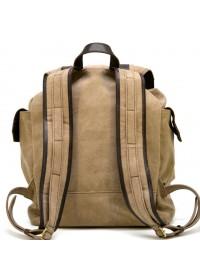 Большой мужской тканево - кожаный рюкзак Tarwa RSc-6680-4lx