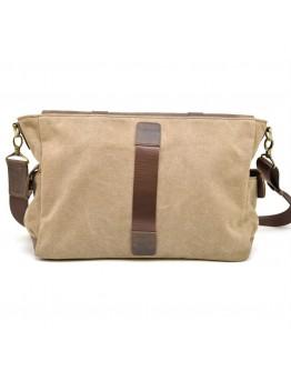 Мужская коричневая сумка на плечо из кожи и канваса Tarwa RSc-6690-4lx