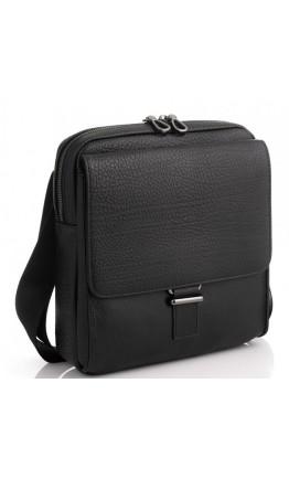 Мужская кожаная черная сумка на плечо Tavinchi S-002A