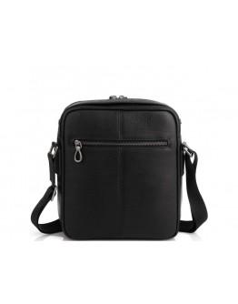 Черная кожаная сумка на плечо Tavinchi S-006A