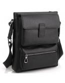Фотография Черная кожаная мужская сумка на плечо Tavinchi S-009A