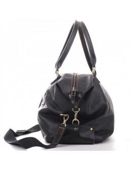Черная сумка гладкая для командировок - дорожная сумка s1-black-glad