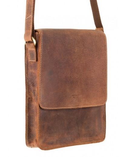 Фотография Коричневая винтажная мужская сумка на плечо Visconti S11 Skyler (Havanna Tan)