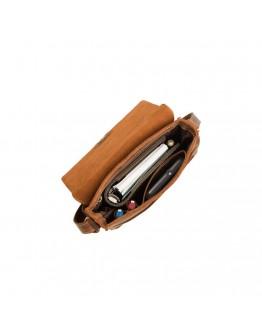 Коричневая винтажная мужская сумка на плечо Visconti S11 Skyler (Havanna Tan)