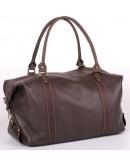 Фотография Кожаная коричневая вместительная сумка для командировок s1brown