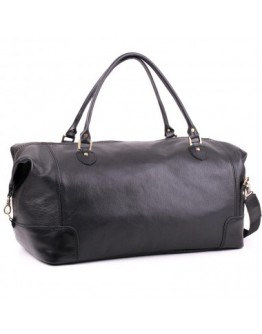 Мужская дорожная сумка черного цвета Manufatto s22