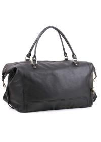 Чёрная большая мужская кожаная сумка в дорогу Manufatto s44 black