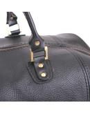 Фотография Чёрная большая мужская кожаная сумка в дорогу Manufatto s44 black