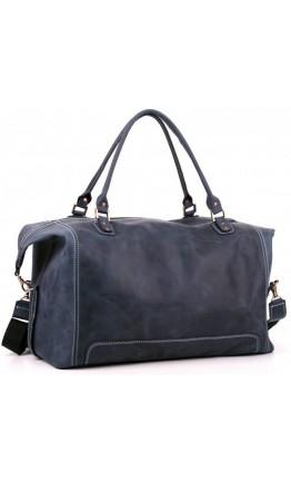 Качественная синяя мужская большая сумка Manufatto s44 blue