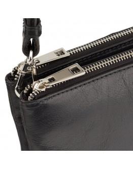 Мужская черная небольшая сумка на плечо Visconti S9 Eden (Black)