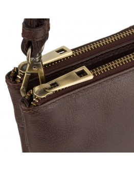 Кожаная небольшая мужская сумка Visconti S9 Eden (Brown)