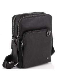 Черная сумка мужская кожаная на плечо Tiding Bag SM13-0014A
