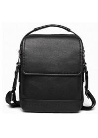 Кожная черная сумка - барсетка Tiding Bag SM8-006A