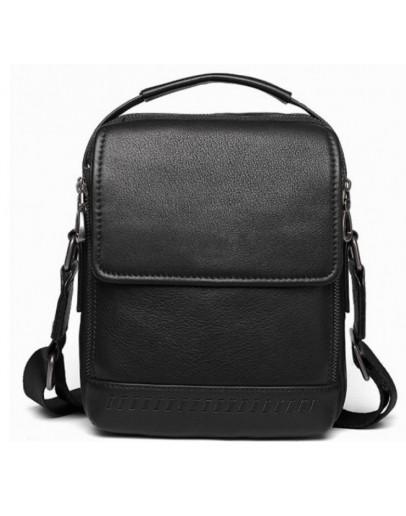 Фотография Кожная черная сумка - барсетка Tiding Bag SM8-006A