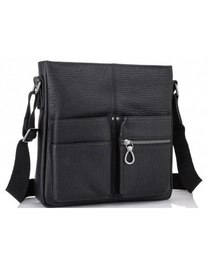 Фотография Черная кожаная сумка на плечо Tiding SM8-008A