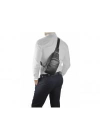 Черная сумка кожаная слинг Tiding Bag SM8-015A