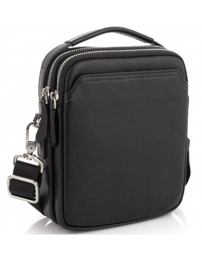 Фотография Мужская кожаная сумка - барсетка на плечо Tiding Bag SM8-096A