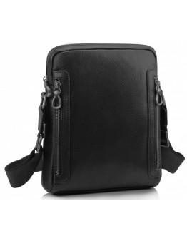 Черная мужская кожаная сумка на плечо Tiding SM8-1007A
