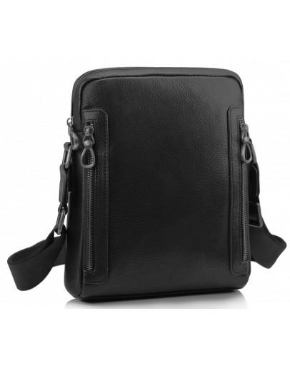 Фотография Черная мужская кожаная сумка на плечо Tiding SM8-1007A