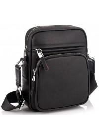 Черная мужская кожаная сумка на плечо Tiding Bag SM8-1022A